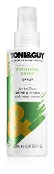 Toni & Guy Finishing Shine Spray for brilliant SHINE &FINISH with static control, 150 ml