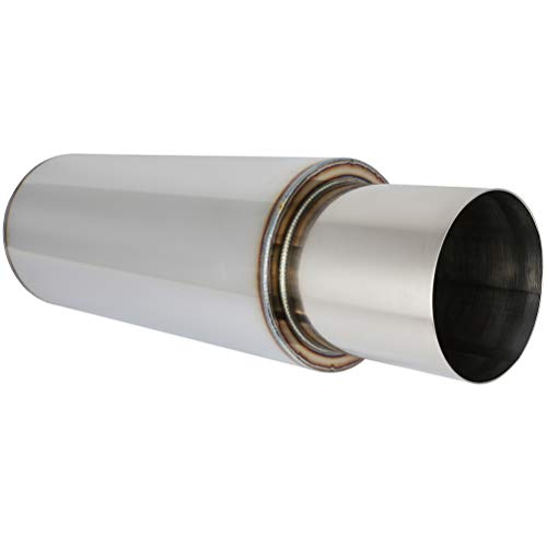 SCITOO 19' Long Exhaust Muffler Tip Universal 2.5' In 4' Outlet Stainless Steel Diesel Exhaust Tip for Truck Cars- Easy to Install
