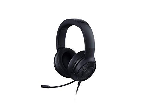 Razer Kraken X - Auriculares para juegos (auriculares ultraligeros para juegos para PC, Mac, Xbox One, PS4 y Switch, diadema acolchada, sonido envolvente 7.1) negro