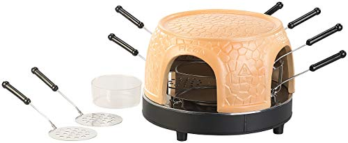 Cucina di Modena Mini Pizza Ofen: Pizzaofen mit echter Terrakotta-Haube für 8 Personen (Pizzaofen Stein)