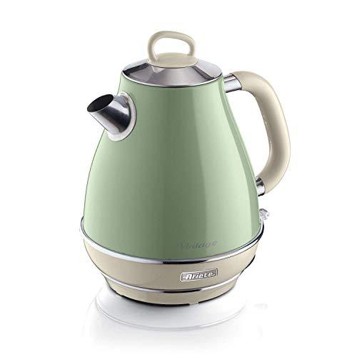 Ariete 2869 Vintage Wasserkocher, 2000, lackiertes Edelstahl, 1.7 liters, grün