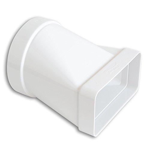 La Ventilazione CGO112B Giunto Orizzontale in ABS da Tubo Tondo a Rettangolare, 100 mm - 120x60 mm