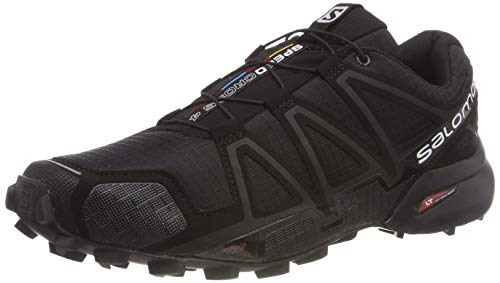 Salomon Men's Speedcross 4 Trail Running Shoes, Black (Black/Black/Black Metallic), 8 UK
