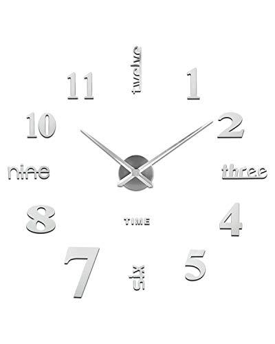 Orologio da Parete Fai-Da-Te, Facile da Montare, Design Moderno, Usato per Decorare La Parete Vuota,...