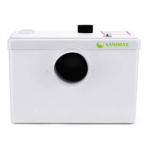 Sanimax SANI600 Broyeur Sanitaire, Pompe Automatique pour Eliminer les Eaux Usées, Silencieuse, 3/1 entrées pour WC lavabo 600W