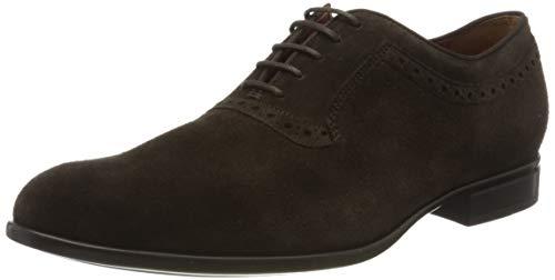 Geox U IACOPO A, Zapatos de Cordones Oxford para Hombre, Marrón (Dk Brown C6006), 45 EU