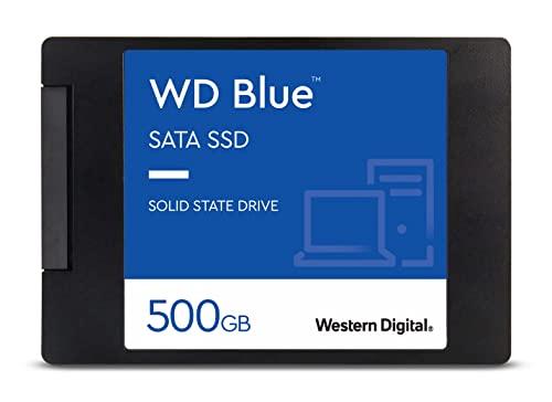Western Digital WDS500G2B0A WD Blue - Disco de estado sólido, 500GB, 2.5', NAND, SATA, 3D, Internal SSD