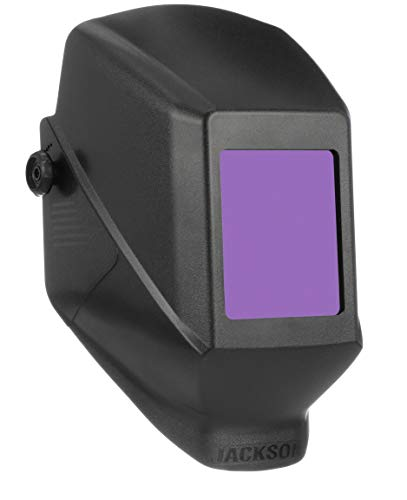"Jackson Safety 14975 W10 HSL 100 Black Passive Welding Helmet, 5-1/4"" Length x 4-1/2"" Width (Pack of 4)"
