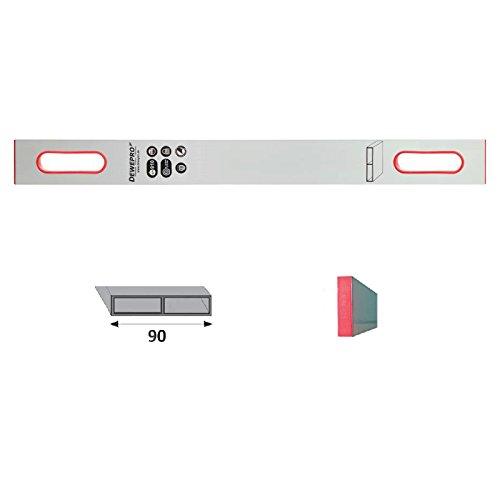 DEWEPRO® Alu Richtlatte - Setzlatte - Abziehlatte - Putzlatte mit 2 Handgriffe - Länge: 150cm / 1,5m