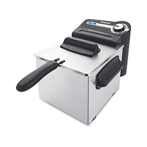 Inalsa Professional 2 Fryer, 18/8 Steel, 2 Liter, Digital Timer, 1700 W, Detachable, Dishwasher...