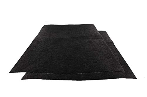DL-Pro, 2 tappetini per filtro al carbone attivo, 38 x 55 cm, tagliabili universali, per cappa aspirante
