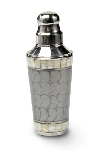 Julia Knight Classic Cocktail Shaker, 9.25-Inch, Platinum, Silver