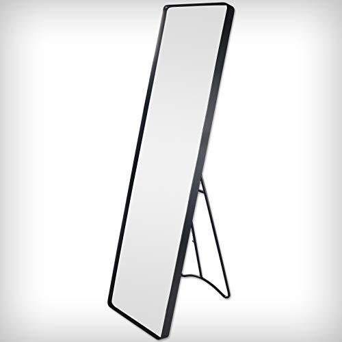 DRULINE 1 x Garderobenspiegel Standspiegel Ganzkörperspiegel (Blauanthrazit) 115 cm x 30,5 cm x 4 cm