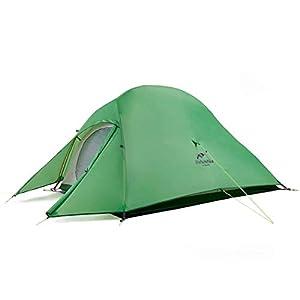Naturehike テント 2人用 アウトドア 二重層 超軽量 4シーズン 防風防水 PU3000/4000 キャンピング プロフェッショナルテント CloudUp2アップグレード版(専用グランドシート付) ((グリーン(210Tアップグレード)))