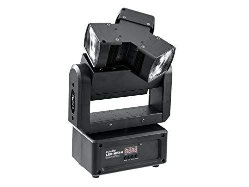 Eurolite LED MFX-6 Strahleneffekt   RGBW-Strahleneffekt mit 3 Linsen und 3 Bewegungsachsen   Mit Infinity-Funktion für endlose PAN- und Z-Achsen-Bewegung