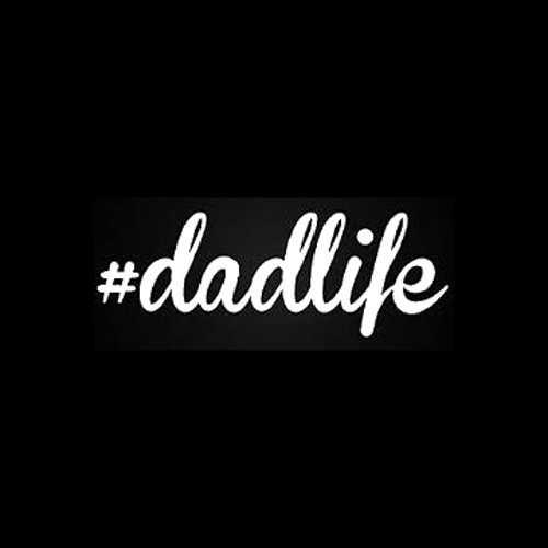 #Dadlife Decal Vinyl Sticker|Cars Trucks Vans Walls Laptop| White |5.5 x 2 in|LLI314