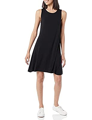 Comfortable, flowy fit Soft, smooth, luxe jersey with beautiful drape Scoop neckline An Amazon brand
