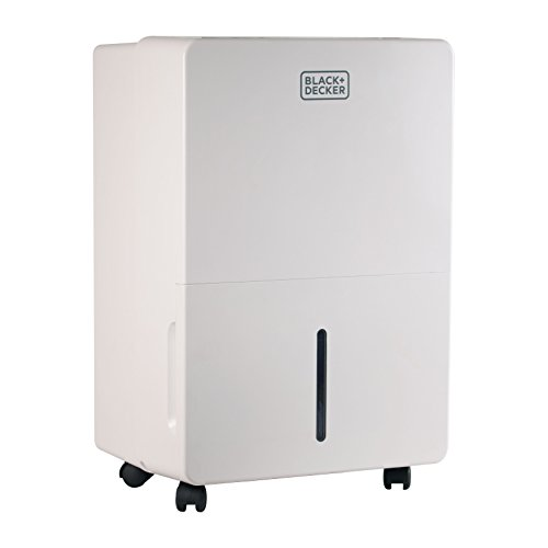 Black + Decker BDT70PWT Portable Dehumidifier, 70 pint with Built-in Pump, White