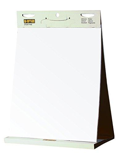 Bi-Office Blocco di Carta Autoadesivi Da Tavolo Con Strato Adesivo Riposizionabile, 20 Fogli, 70...