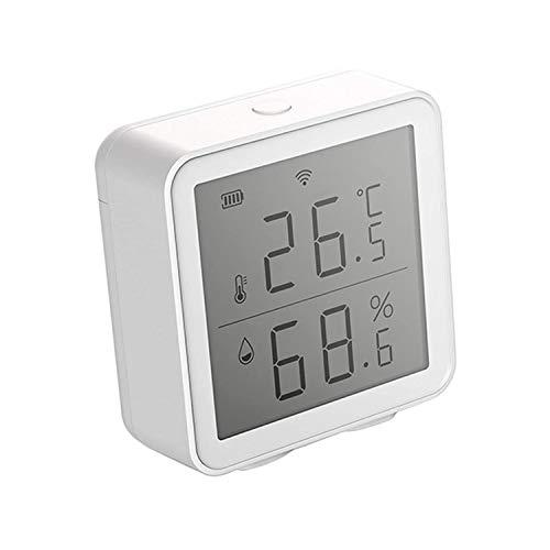 Jueves Sensore di Temperatura e umidit WiFi Intelligente, Display LCD Non Teme la Retroilluminazione, Registrazione della Data, Casa/Serra/Cantina/Garage/Cantinetta Usati Insieme