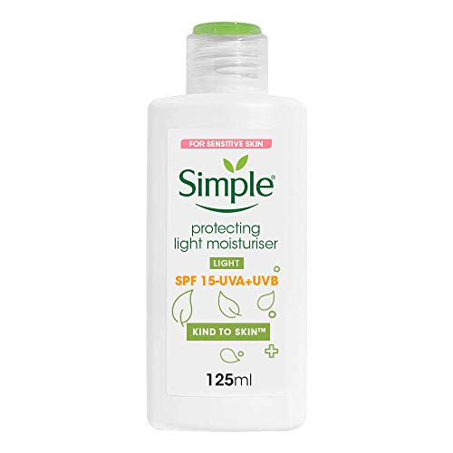 Simple Kind To Skin Protecting Light Moisturiser Spf 15, No Added Perfume, No Harsh Chemicals, No Artificial Color, No Alcohol And No Parabens, 125 ml