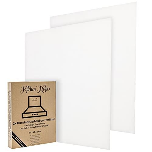 Cappa aspirante da cucina Helpis Cappa aspirante, 2 pezzi, filtro cappa, 57x54x1 cm, filtro personalizzabile, filtro antigrasso cappe, filtro cappa cucina universale, filtro per cappa cucina