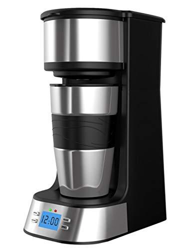 PowerDoF - Caffettiera digitale programmabile, automatica, in plastica