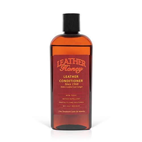 Leather Honey Lederpflegemittel, das beste Lederpflegemittel seit 1968, 8 Oz Flasche. Zur Verwendung auf Lederbekleidung, Möbeln, Autoinnenräumen, Schuhen, Taschen und Accessoires. Hergestellt in den USA