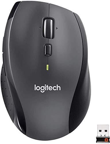 Logitech M705 Souris sans Fil Marathon, 2,4 GHz avec Nano-Récepteur USB Unifying, Suivi Laser 1000 PPP, 7 Boutons, 2 Boutons Supplémentaires, Batterie Longue Durée 3 Ans, PC/Mac/Portable - Noire