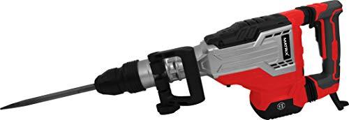Matrix 120700110 Abbruchhammer SDS MAX, 1700 Watt, 40 Joule, inklusive 2 Meißel und Koffer, Rot, Schwarz
