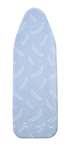 WENKO Bügeltischbezug Air Comfort L, Bügelbrettbezug, 4 mm Komfortpolsterung, Baumwolle, 45 x 125 cm, blau