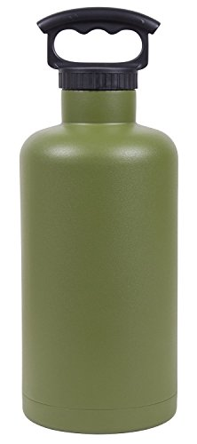 7514OL : 64OZ OLIVE GREEN VACUUM-INSULATED TANK GROWLER by Lifeline