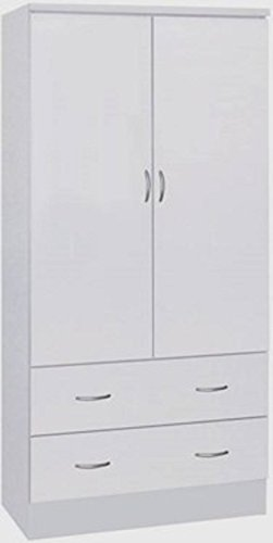 two door wardrobe with two drawers