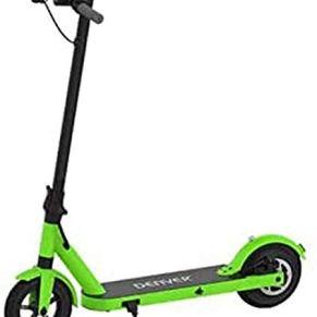 Denver SCO-85350 Green Scooter Eléctrico de 8.5'' con Estructura de Aluminio, Motor 350 W, Verde