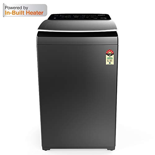 Whirlpool 7.5 Kg 5 Star Fully-Automatic Top Loading Washing Machine with In-Built Heater (360 BLOOMWASH PRO (540) H 7.5, Graphite, Hexa Bloom Impeller)
