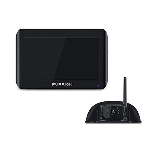 Furrion Vision S FOS05TASF 5 inch Sharkfin Camera Wireless RV Backup System with Infrared Night Vision and Wide Viewing Angle