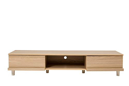 Movian Board BAB-150A Mobile TV per Schermo 52 Pollici con Cassetto e Armadio in Legno MDF, Engineered Wood, Marrone (Rovere Chiaro)