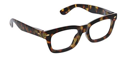 Peepers by PeeperSpecs Women's Lois Cat-Eye Reading Glasses, Tortoise-Focus Blue Light Filtering Lenses, 50 mm + 2