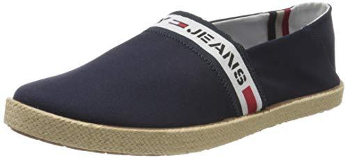 Tommy Hilfiger Tommy Jeans Tape Summer Shoe, Mocasines para Hombre, Rojo (RWB 0kp), 42 EU