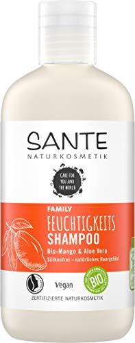 Sante Naturkosmetik 40306 FAMILY Feuchtigkeits Shampoo Bio-Mango & Aloe Vera,...