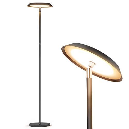 Stehlampe,LED-dimmbare moderne hohe Stehlampen,industrielles Büro-Stehlampen-Standmastlicht,TECKIN-Noten-Steuerleselicht für Wohnzimmer