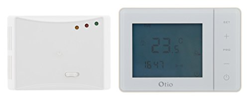 Thermostat programmable sans fil blanc