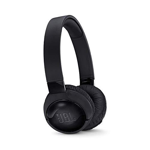 JBL Tune600BTNC Cuffie Wireless Sovraurali con funzione di Noise Cancelling, Cuffie Pieghevoli Bluetooth con Microfono integrato, di 12h di autonomia, Nero