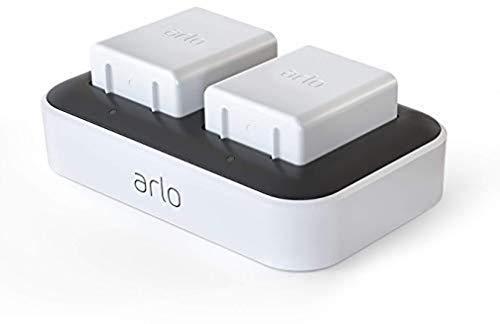 Estación de carga dual Arlo para cámaras de vigilancia Arlo Ultra, Ultra 2, Pro3 y Pro 4 Baterías recargables, accesorio Arlo original, VMA5400C-100EUS
