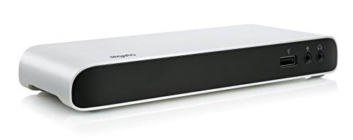 Elgato Thunderbolt 3 Dock - With 50 cm Thunderbolt cable, 40Gb/s, dual 4K support, 2x Thunderbolt 3 (USB-C), 3x USB 3.0, audio input and output, Gigabit Ethernet, aluminum chassis (10DAA4101)