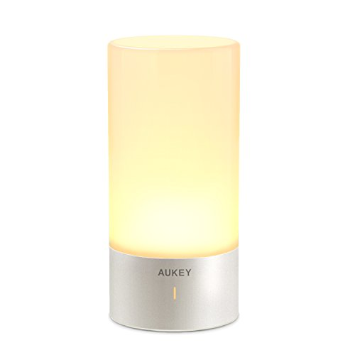 AUKEY Table Lamp, Touch Sensor Bedside Lamps + Dimmable...