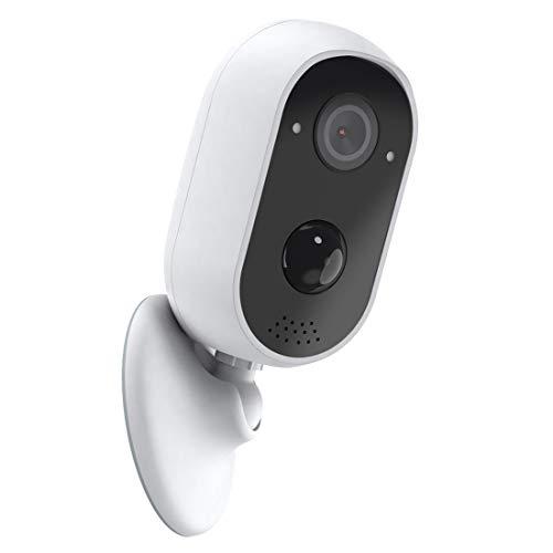 REIGY Telecamera WiFi Esterno Batteria 1080P, Videocamera IP Sorveglianza Senza Fili, Videosorveglianza con PIR Rilevamento del Movimento Visione Notturna, IP65 con Audio Bidirezionale