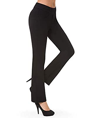 According to most buyer's feedback, this pants are slightly snug, if you prefer loose fit, we recommend one size up than usual. Mini key pocket design with faux pockets on front and back, secure to organise your key or small items Straight leg or Pul...