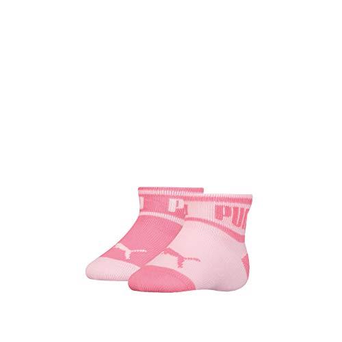 PUMA Baby Wording Socks (2 Pack) Calzini, Rosa, 15/18 IT (Pacco da 2) Unisex-Bimbi