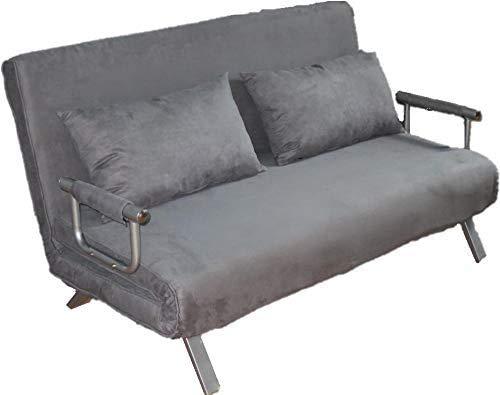 ITALFROM Divano Letto Sofa Bed Grigio divani 153x69x82h Divanetto Divano Letto 2 Piazze cod.4033